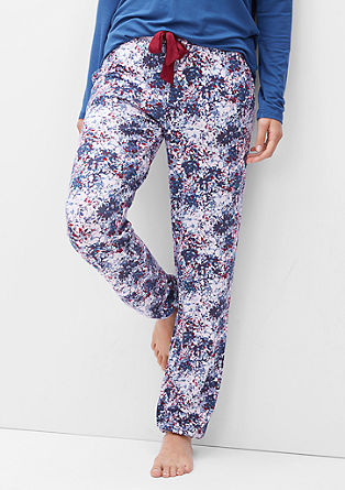 Pyjamahose mit Alloverprint