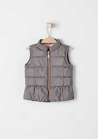 Quilted body warmer with a pink inside from s.Oliver