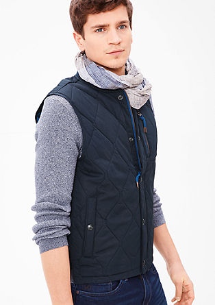 Quilted body warmer with a ribbed collar from s.Oliver