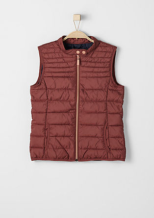 Quilted body warmer with shiny zips from s.Oliver