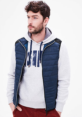 Quilted body warmer with softshell from s.Oliver