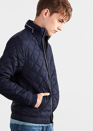Quilted jacket with a concealed hood from s.Oliver