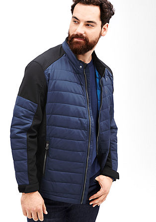 Quilted jacket with a softshell from s.Oliver