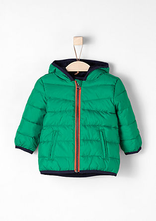Quilted jacket with neon accents from s.Oliver