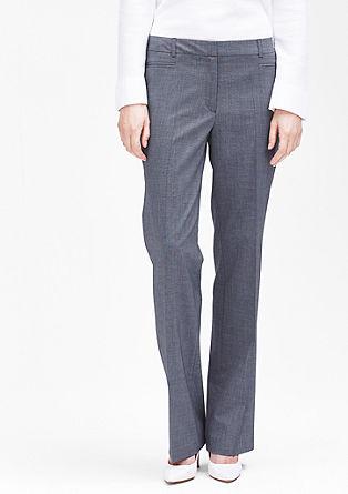 Rachel straight: fil-à-fil pantalon