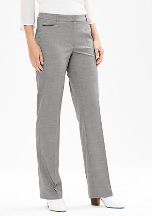 Rachel Straight: Straight business trousers from s.Oliver
