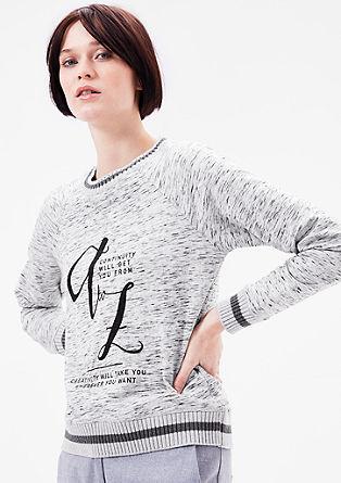 Raglan majica s pleteno obrobo