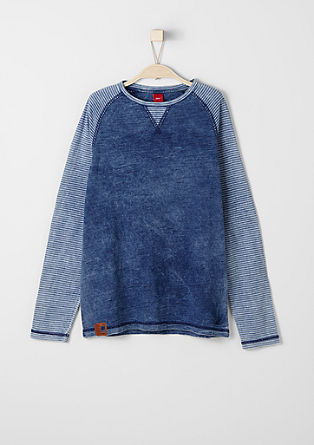 Raglan top with a washed finish from s.Oliver