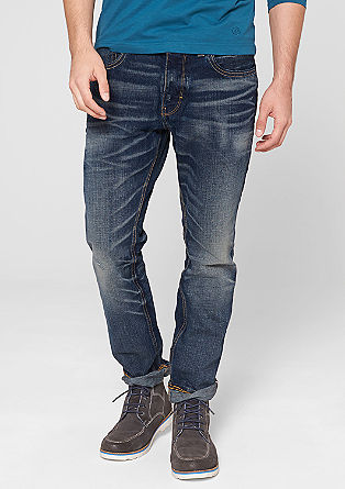 Ramp straight: jeans met crinkle effects