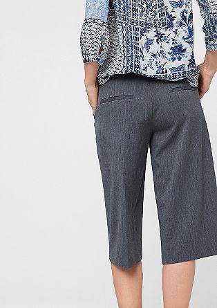 Raztegljive dokolenske hlače culotte