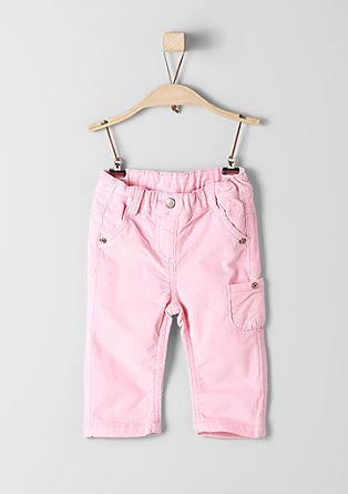 raztegljive hlače iz rebrastega žameta