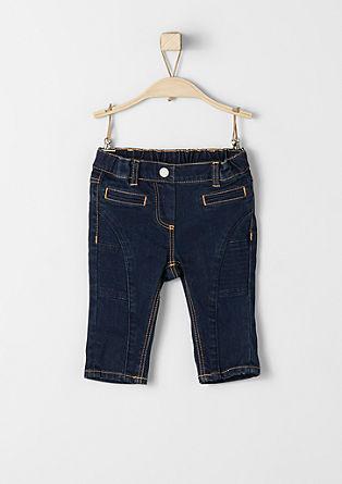 raztegljive jeans hlače, motorističnega videza
