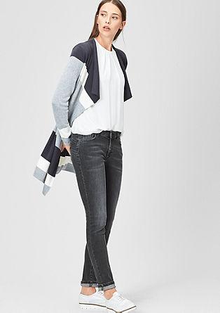 Raztegljive jeans hlače za oblikovanje postave