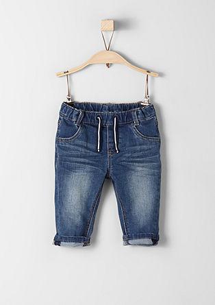 raztegljive modre jeans hlače