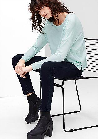 Reena slim: enkellange jeans