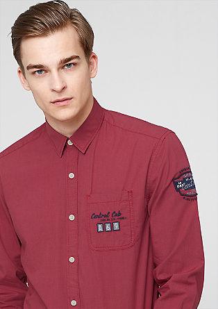 Regular: Besticktes Hahnentritt-Hemd