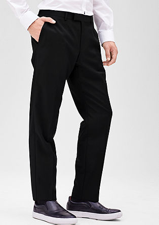 Regular: business pantalon van scheerwol