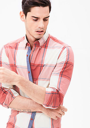 Regular: Button-down check shirt from s.Oliver