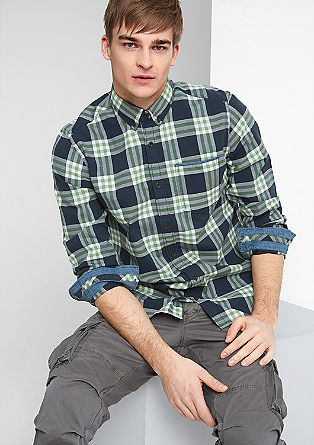 Regular: button-down shirt from s.Oliver