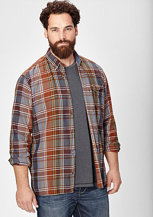Regular: check button-down shirt from s.Oliver