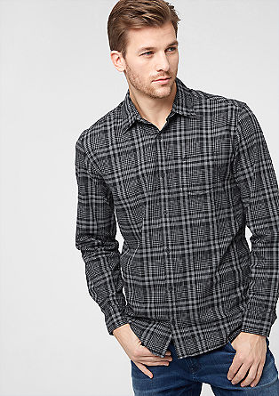 Regular: check flannel shirt from s.Oliver
