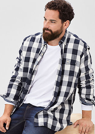 Regular: check shirt from s.Oliver