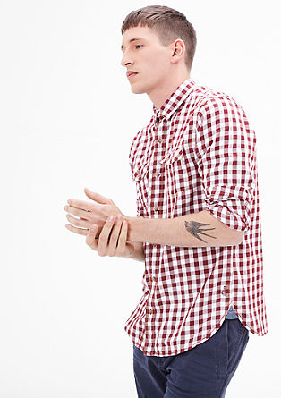 Regular: check shirt with contrast stitching from s.Oliver
