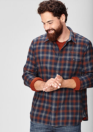 Regular: check twill shirt from s.Oliver