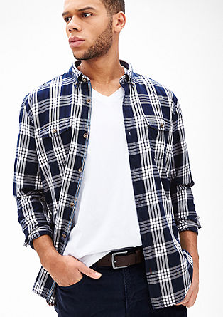 Regular: cotton check shirt from s.Oliver