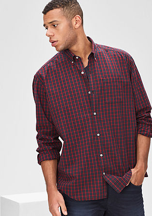 Regular: cotton shirt with a check pattern from s.Oliver