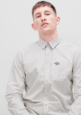 Regular: črtasta bombažna srajca