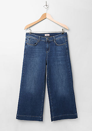 Regular: Denim-Culotte