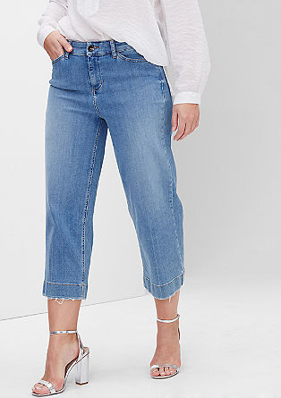 Regular: denim culottes from s.Oliver