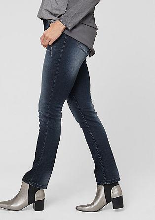 Regular: denim jeans with gemstones from s.Oliver