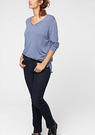 Regular: Dunkle Stretch-Jeans