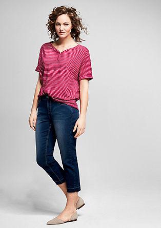 Regular: Enkellange jeans met stretch