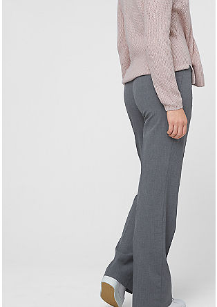 Regular: fabric trousers with a woven texture from s.Oliver