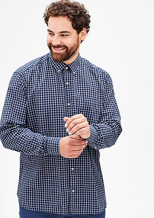 Regular: Fashionable check shirt from s.Oliver