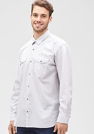 Regular: fijn gestippeld overhemd