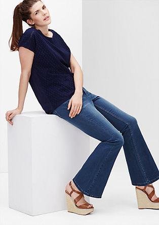 Regular: flared jeans met een hoge taille