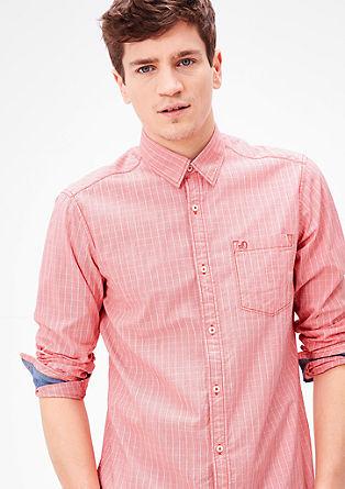 Regular: geruit overhemd van katoen