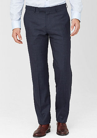 Regular: geruite business pantalon