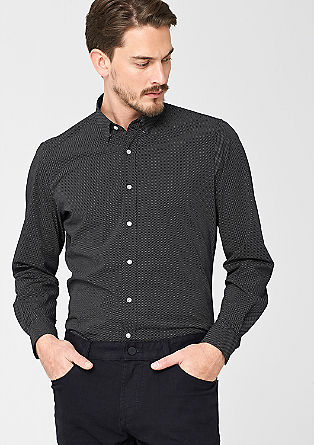 Regular: gestippeld overhemd