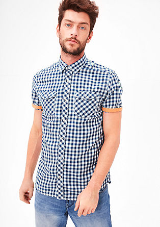 Regular: gingham check short sleeve shirt from s.Oliver