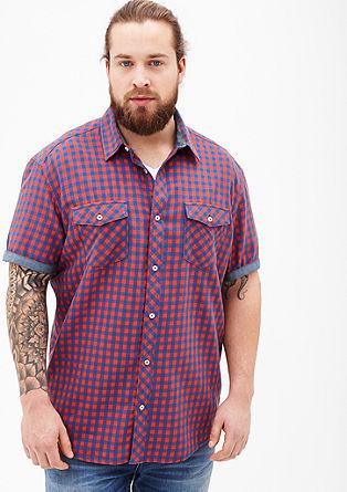 Regular: gingham check short sleeve shirt from s.Oliver