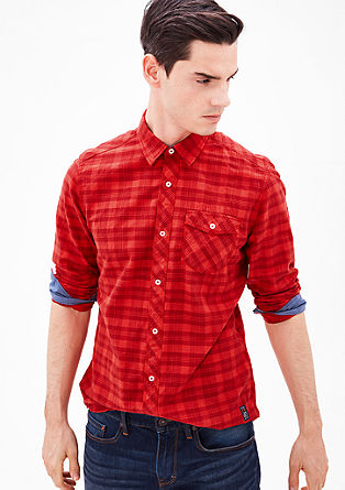 Regular: gingham long sleeve shirt from s.Oliver