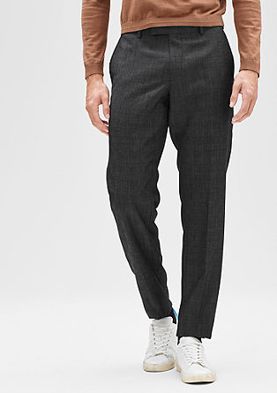 Regular: Glen plaid trousers from s.Oliver