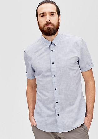 Regular: Hemd aus Leinen-Mix
