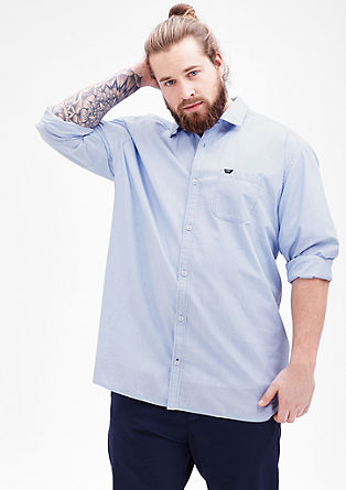 Regular: Hemd mit Chambray-Details