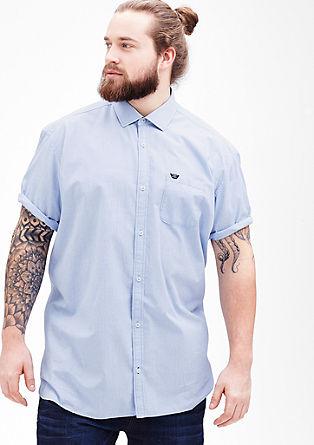 Regular: Hemd mit Chambray-Details